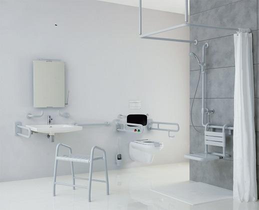 Bagno per disabili misure idee creative di interni e mobili for Misure mobili bagno