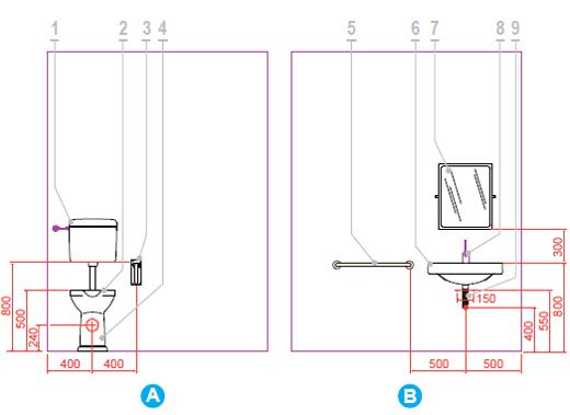Tutte le altezze che un bagno per disabili deve rispettare - Bagno barriere architettoniche ...