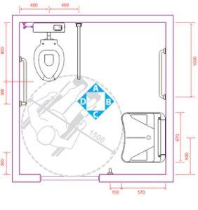 Esempi di bagni per disabili vita salute e benessere - Progettare un bagno piccolo ...