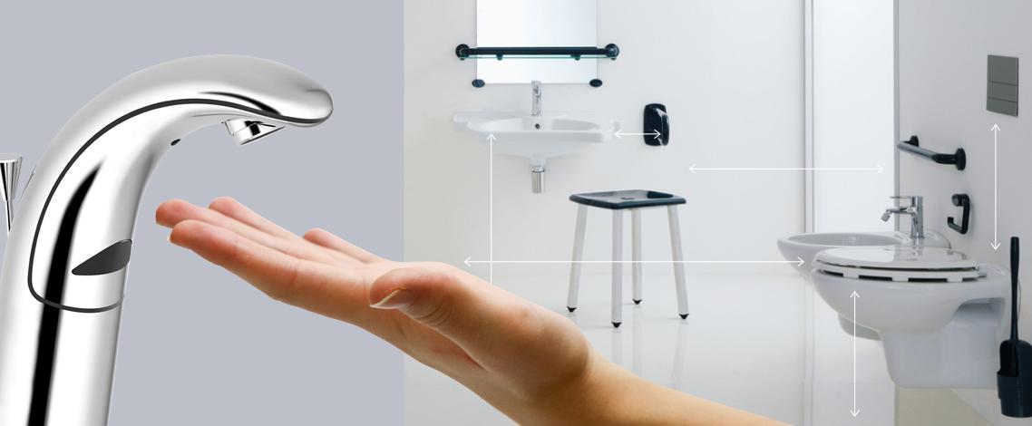 Rubinetteria da bagno per disabili e anziani