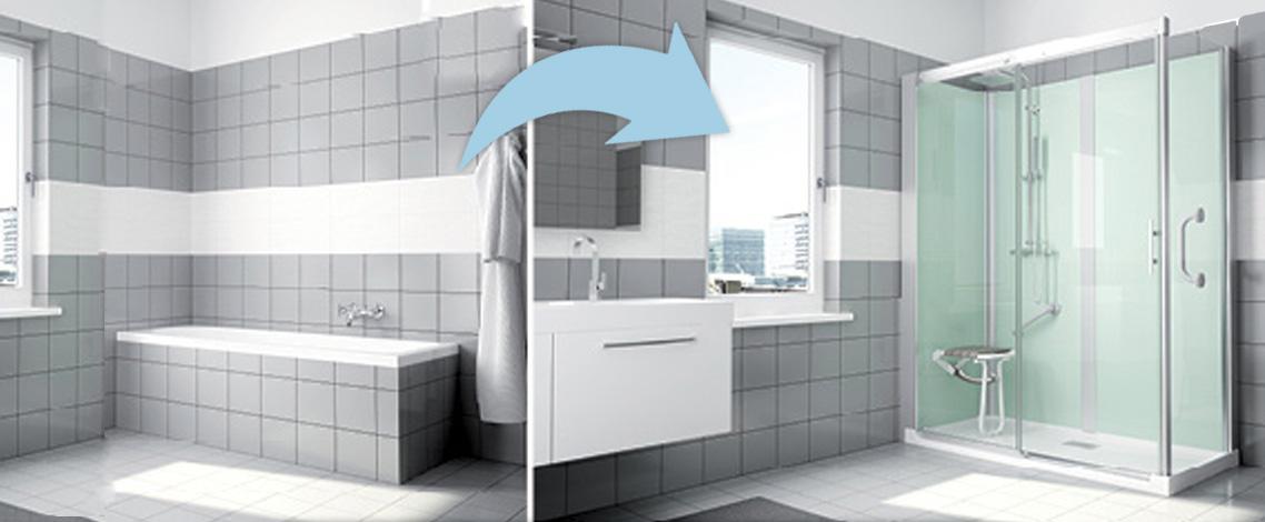 Come trasformare la vasca in una doccia per anziani e disabili - Box doccia anziani ...